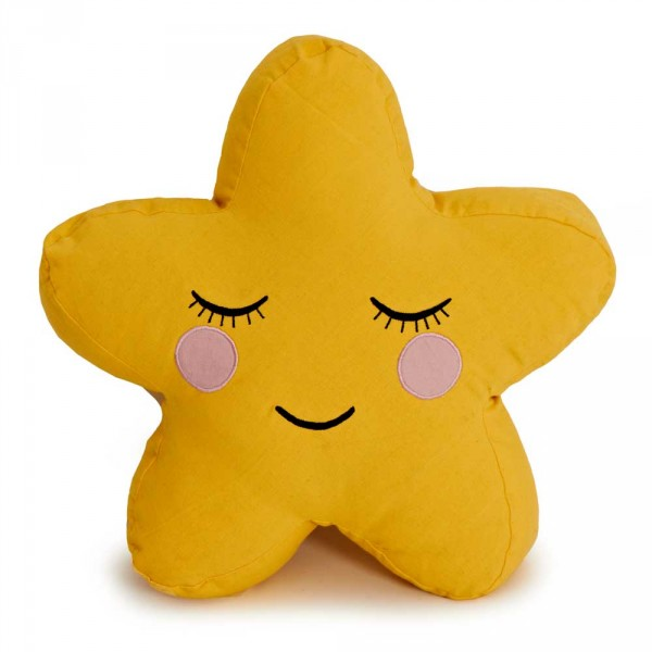 Roommate Dekokissen Stern gelb