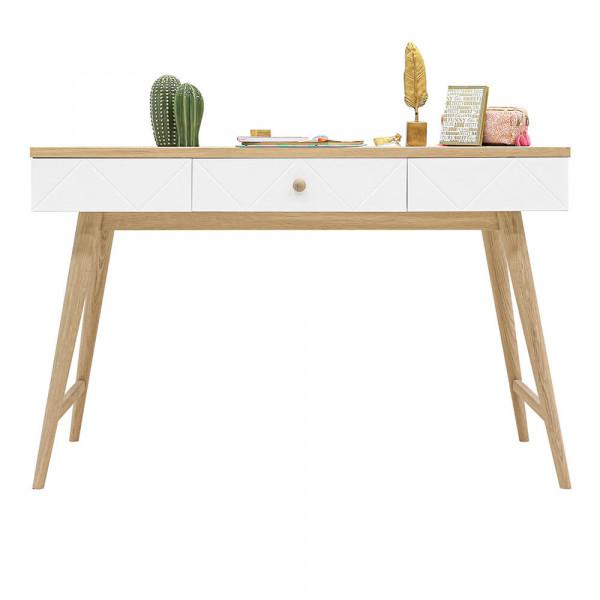Bopita Paris Schreibtisch weiss Eiche