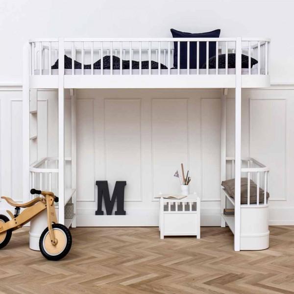 Oliver Furniture Wood Umbauset Hochbett zu Bettsofa weiß