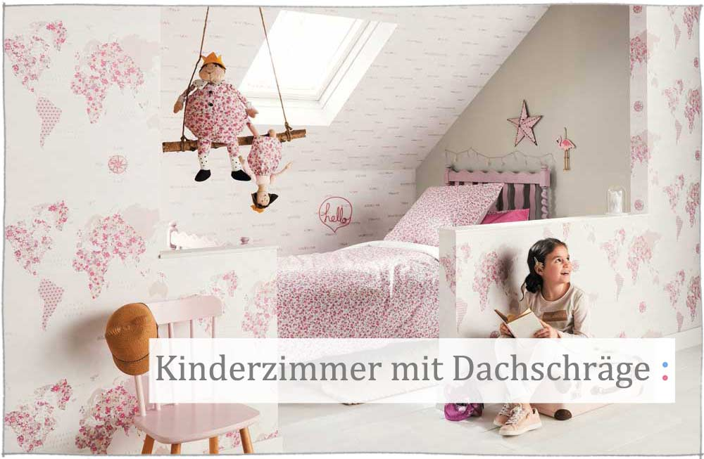 kinderzimmer ideen f r m dchen schr ge. Black Bedroom Furniture Sets. Home Design Ideas